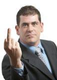 Mittlerer Finger Lizenzfreie Stockfotos