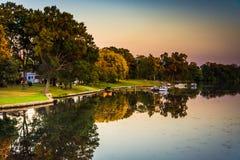 Mittlerer Fluss, in Essex, Maryland stockfoto