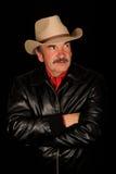 Mittlerer gealterter Cowboy lizenzfreie stockbilder