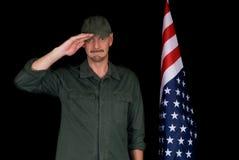 Mittlerer gealterter Mann, Soldat Lizenzfreies Stockbild