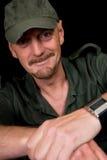 Mittlerer gealterter Mann, Soldat Lizenzfreies Stockfoto