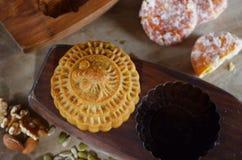 Mittlerer Herbstmondkuchen Lizenzfreies Stockbild