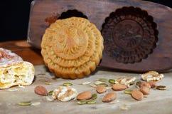 Mittlerer Herbstmondkuchen Lizenzfreie Stockfotografie