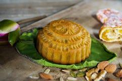 Mittlerer Herbstmondkuchen Lizenzfreie Stockfotos