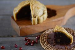Mittlerer Herbstmondkuchen Stockfotografie