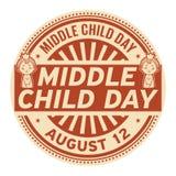 Mittlerer Kindertag, am 12. August stock abbildung