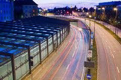 Mittlerer Ring. In Munich North by night Royalty Free Stock Photos