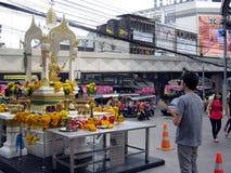 Mittlerer Straßentempel Bangkok Lizenzfreies Stockbild
