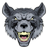 Mittlerer Wolf Mascot Stockfotos