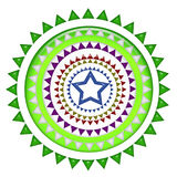 Mittleres Design des blauen Sternes Stockbild
