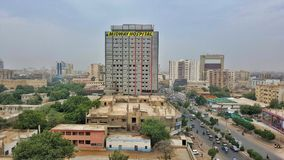 Mittleres Krankenhaus u. IBA Karachi lizenzfreie stockbilder