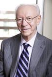 Älteres Geschäftsmann-Porträt Stockbild