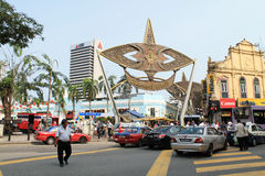 Mittmarknad på den pasar senien Kuala Lumpur Malaysia Royaltyfria Bilder