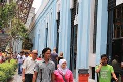 Mittmarknad på den pasar senien Kuala Lumpur Malaysia Fotografering för Bildbyråer