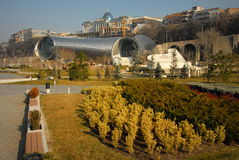 Mittpanorama - Tbilisi Arkivfoton