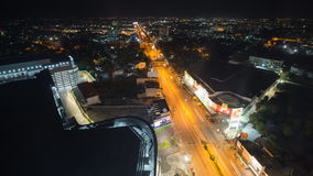 Mittraphap Highway in Nakhon Ratchasima city stock video footage