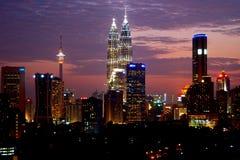 mittstad Kuala Lumpur Arkivbild