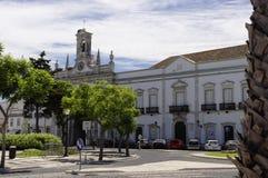 Mittstaden av Faro Arkivbild