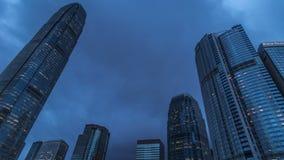 Mitttorn för internationell finans i Hong Kong 4K TimeLapse - Augusti 2016, Hong Kong lager videofilmer