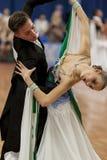 Mitunevich Maksim and Serpokrylova Aleksandra perform Youth-2 Standard Program Stock Photo