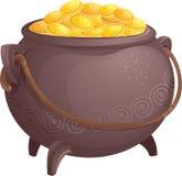 Mityczny garnek złoto ilustracja wektor