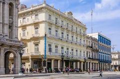 Mityczny Hotelowy Inglaterra w Hawańskim, Kuba Zdjęcia Royalty Free