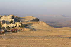 Mitzpe Ramon a city on the Cliff Stock Images
