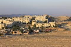 Mitzpe Ramon een stad op de Klip Royalty-vrije Stock Foto