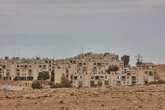 Mitzpe Ramon, 02 2016 Grudzień: Mała ulica przy Negew Obrazy Royalty Free