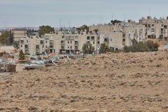 Mitzpe Ramon, 02 2016 Grudzień: Mała ulica przy Negew Fotografia Stock