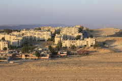 Mitzpe Ramon miasto na falezie Zdjęcie Royalty Free
