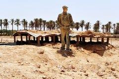Mitzpe Revivim nel deserto di Negev Fotografie Stock Libere da Diritti