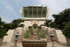 Miu肥胖佛教徒修道院在香港 库存照片