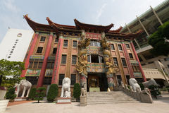Miu Fat Buddhist Monastery in Hong Kong Royalty-vrije Stock Fotografie