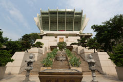 Miu Fat Buddhist Monastery i Hong Kong Arkivfoto
