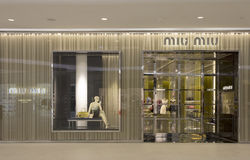 Miu Miu store Stock Photography