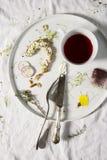 Miudezas terminadas do café da manhã Fotografia de Stock Royalty Free