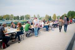Miveg event in Milan on september 2013 Stock Photo