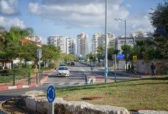 Mivtsa Moshe Street i Rishon LeZion Arkivbilder