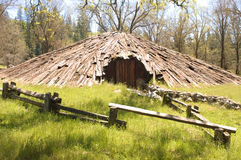 Miwok indian sweat lodge Royalty Free Stock Photos