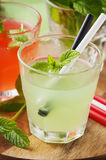Mix of alcohol cocktails with rum and mint Royalty Free Stock Photography