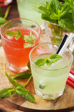 Mix of alcohol cocktails with rum and mint Royalty Free Stock Photo