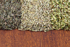 A mix of aromatic dried herbs Royalty Free Stock Image