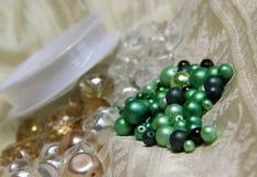 Mix of beads Stock Photos