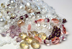 Mix of beads Stock Image