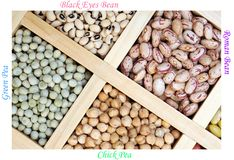 Mix bean and pea Stock Photography