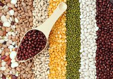 Mix bean and pea Stock Image