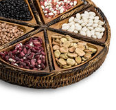 Mix of beans Royalty Free Stock Images