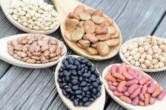 Mix of beans Stock Photos