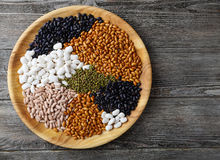 Mix of beans and lentils Royalty Free Stock Images